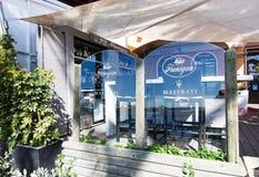 Flanigan restaurant and Maserati icon Royalty Free Stock Photography