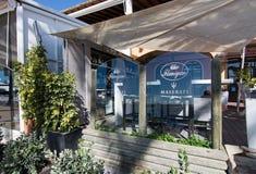 Flanigan restaurant and Maserati icon Royalty Free Stock Photo