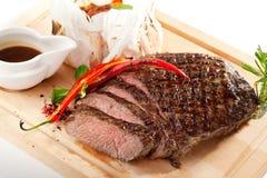 flank grillad steak arkivbilder