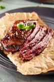 flank grillad steak royaltyfri bild