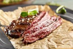 flank grillad steak royaltyfria bilder