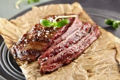 flank grillad steak arkivbild