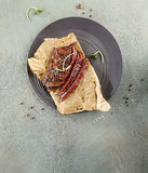 flank grillad steak royaltyfri fotografi