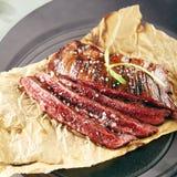 flank grillad steak fotografering för bildbyråer