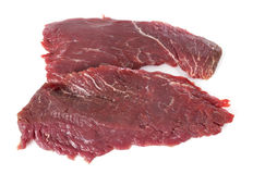 Flank steak. In front of white background royalty free stock photo