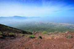 On flank of volcano Vesuvius Stock Image