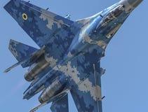 Flanker de Sukhoi Su-27 del ucraniano Imagen de archivo libre de regalías
