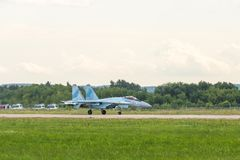 Flanker-E бойца Su-35 русского плоский Стоковое Фото