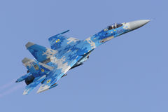 Flanker Su-27 ucraniano Fotos de Stock