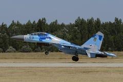 Flanker ucraniano Su-27 Fotografía de archivo libre de regalías