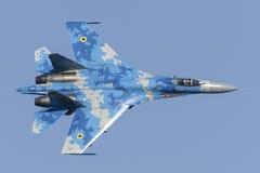 Flanker Ukrainer Sukhoi Su-27 im Flug Stockbilder