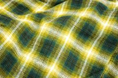 Flannel. Green plaid flannel pattern Royalty Free Stock Photo
