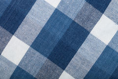 Flannel checkered background. Blue and white flannel checkered background Stock Images