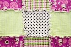 Flannel patchwork quilt Stock Photos