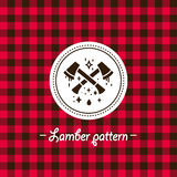 Flannel seamless pattern. Lumber fabric texture. winter design Stock Photos