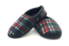 Flannel slippers Stock Image