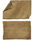 Flap burlap. As brown background Royalty Free Stock Images