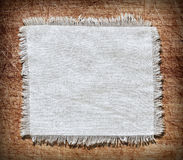 Flap burlap background, piece of natural material Stock Photo