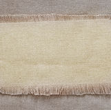 Flap burlap background, piece of natural material, can be used as background Royalty Free Stock Photos