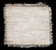Flap burlap texture, piece of natural material Royalty Free Stock Photography