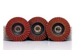Flap grind abrasive discs  Stock Image