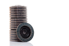 Flap grind abrasive discs isolated Stock Photos