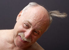 Flap of Hair Flying Royalty Free Stock Image