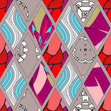 Flap seamless pattern.  illustration Royalty Free Stock Photos