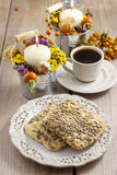 Flapjack cookies, autumn setting Stock Image