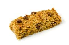 Flapjack oat cake. Chocolate Flapjack oat cake  over white Stock Photography