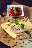 Flapjacks de Gourment Foto de archivo libre de regalías