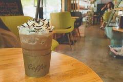 Flappe del hielo del café con el wipcream Imagenes de archivo