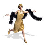Flapper Fun Royalty Free Stock Image