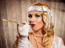 Flapper girl Stock Image