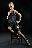 Flapper Girl In Black Stock Images