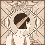 Flapper girl: Retro party invitation design. Vector illustration vector illustration