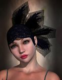 Flapper Portrait, 3D CG Royalty Free Stock Photos