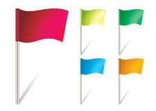 Flapping flag icon Stock Photos