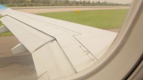 Flaps Airplane Slows Down stock footage