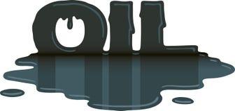 Flaque de pétrole Illustration Libre de Droits