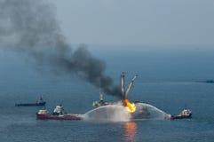 Flaque de pétrole d'eau profonde d'horizon de point d'ébullition Image stock