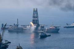 Flaque de pétrole d'eau profonde d'horizon de point d'ébullition Photographie stock libre de droits