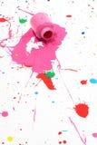 Flaque sèche de peinture Photos libres de droits