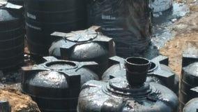 Flaques de pétrole de Chennai Photographie stock libre de droits