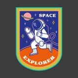 Flard met astronaut royalty-vrije illustratie