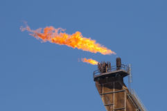 Flare of anoOffshore FPSO oil rig Stock Photography