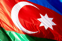 Flare Azerbaijan flag Royalty Free Stock Image