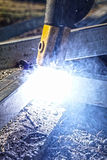 Flare of Electric Welding Royalty Free Stock Image