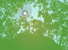 Flare of the Forest. A scalable vector illustration of a lens flare in the forest royalty free illustration