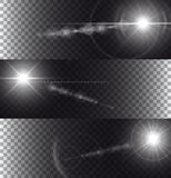 Flare lights isolated on transparency background. Illustartion of flare lights isolated on transparency background Royalty Free Stock Photo